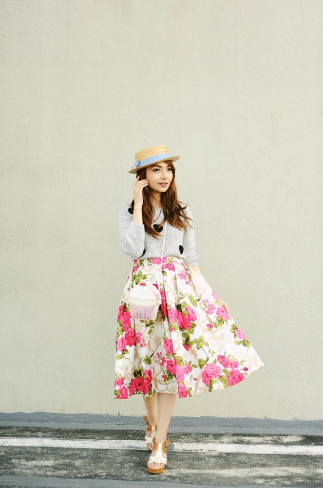 1bestiekonisis-floral-midi-skirt